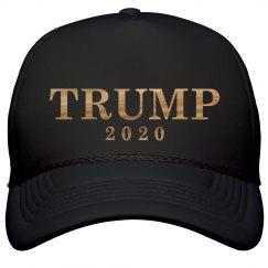 Gold Metallic Trump 2020 Hat