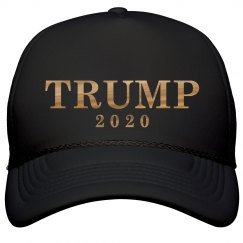 b53c1e74778 Gold Metallic Trump 2020 Hat