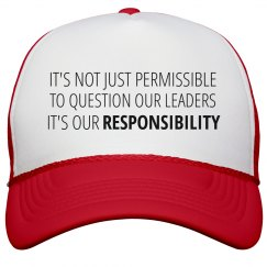 Our Duty is to Question Leaders