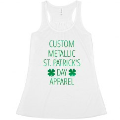 Custom Metallic St. Patrick's Day Tank