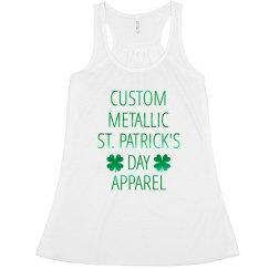 Custom Metallic St. Patrick's Day Tank