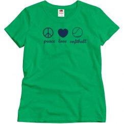 Peace Love Softball