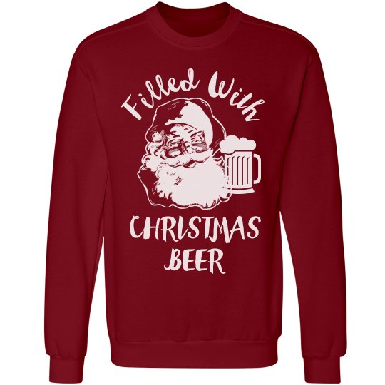 Filled With Christmas Beer Santa