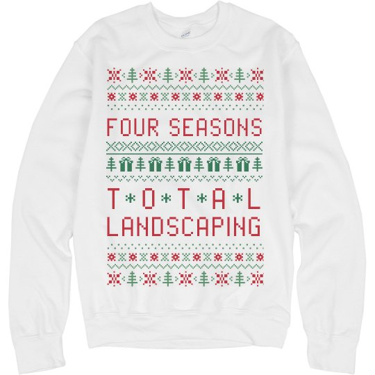 Four Seasons Total Landscaping Ugly Christmas Sweater