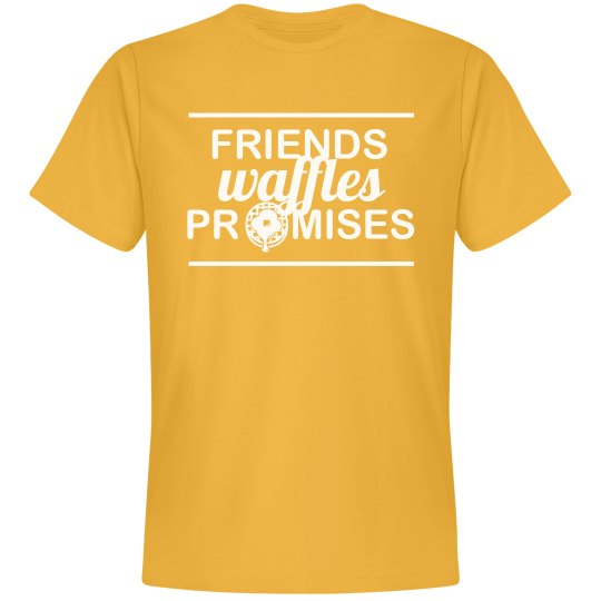 Friends Waffles Promises Simple Tee