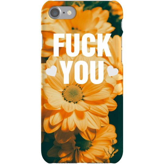 Fuck You Flowers Trendy Phone Case