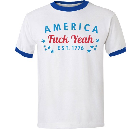 Funny America Fuck Yeah With Stars