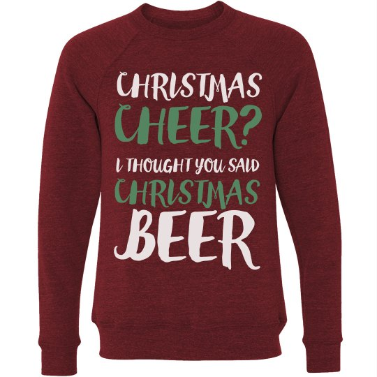 Funny Christmas Beer Party Sweater