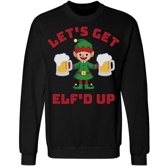 Funny Christmas Drinking Elf'd Up