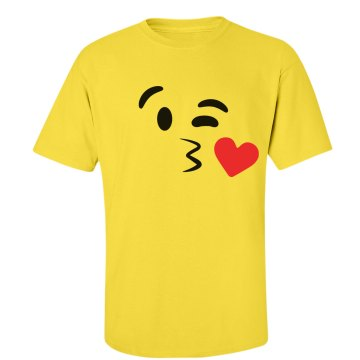 Funny Emoji Kissy Face 2 Costume