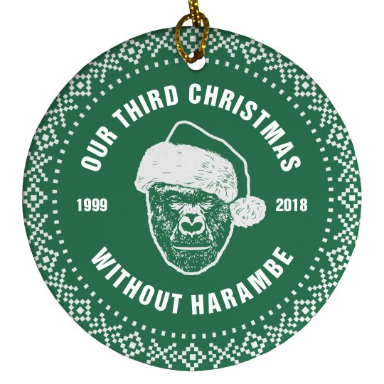 Funny Harambe Ornament Gift For Him