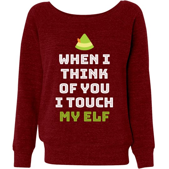 Funny I Touch My Elf Xmas Sweater