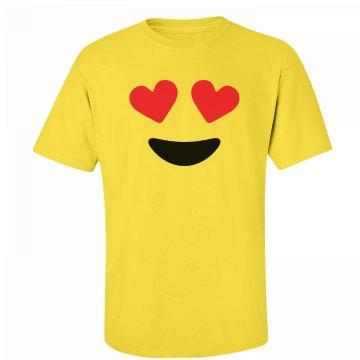 Funny Love Eyes Emoji Costume
