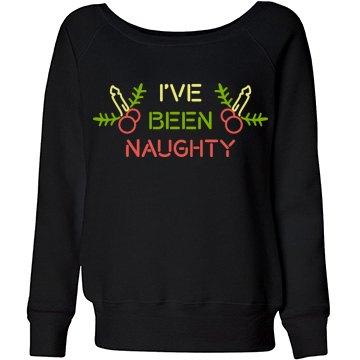 Funny Naughty Christmas Sweater