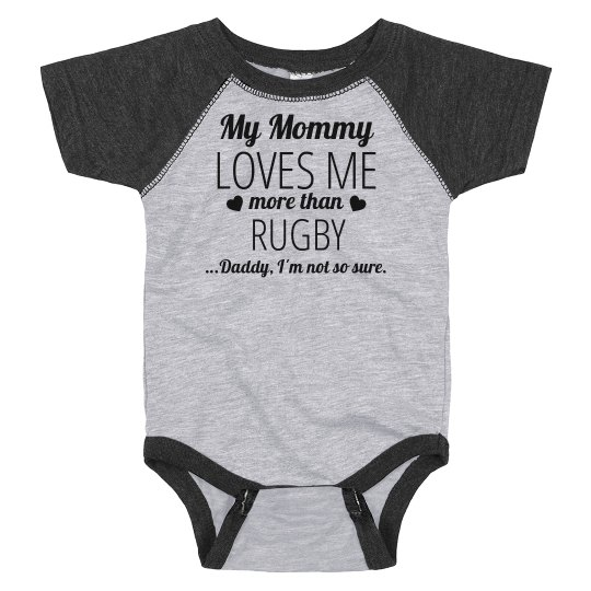 Funny Rugby Baby Onesie