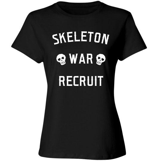 Funny Skeleton War Recruit