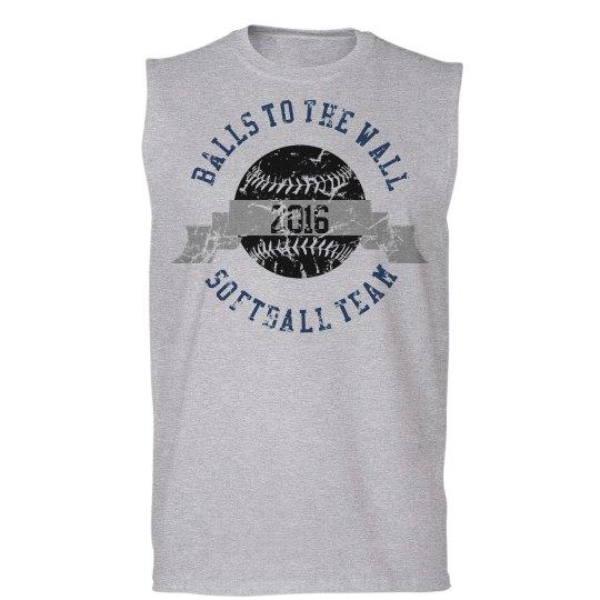 Funny Softball Team Tee