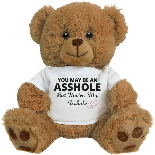 Funny Teddy Bear Valentine Gift with Bold Text