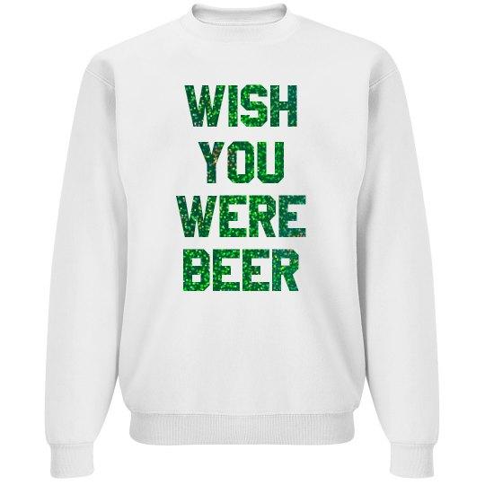 Glitter Wish You Were Beer