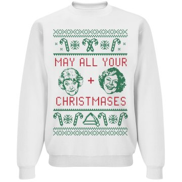 Golden Christmas Ugly Sweater