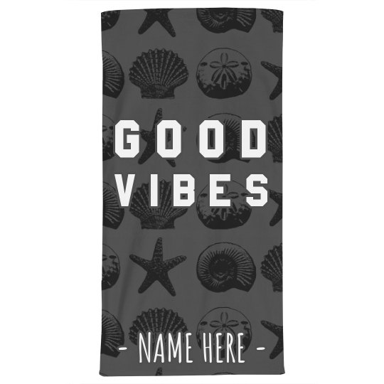 Good Vibes Beach Towel