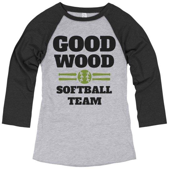 Good Wood Trendy Softball Team Name