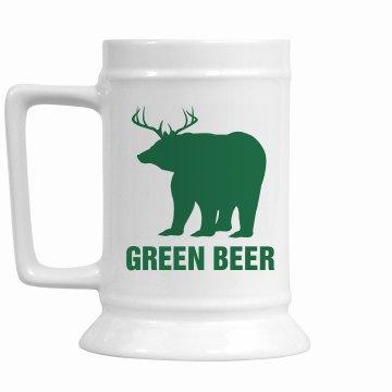 Green Beer Irish Stein