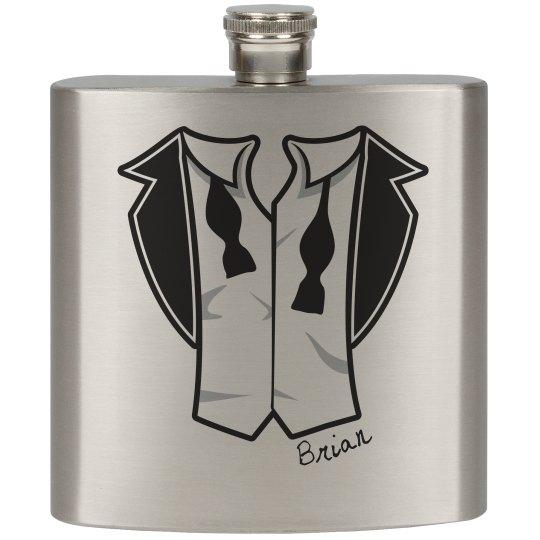 Groom Tux Flask