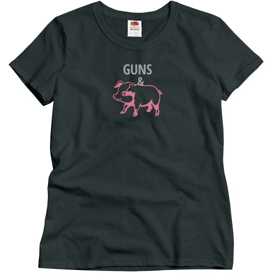 GUNS & HAM (Misses charcoal/silverpink)