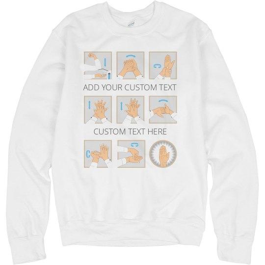 Handwashing Graphic Print Sweatshirt