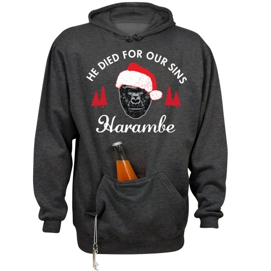 Harambe Hoodie He Died For Our Sins