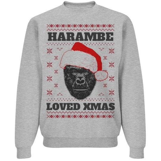 Harambe Loved Christmas Sweater