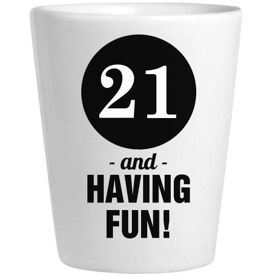 Having Fun At My 21st Birthday