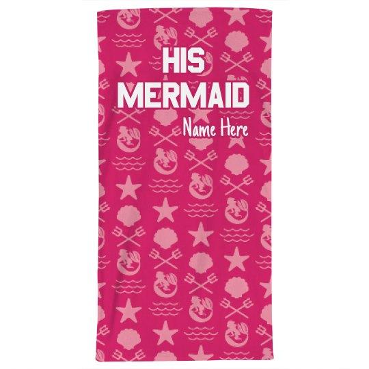 His Mermaid Beach Towel