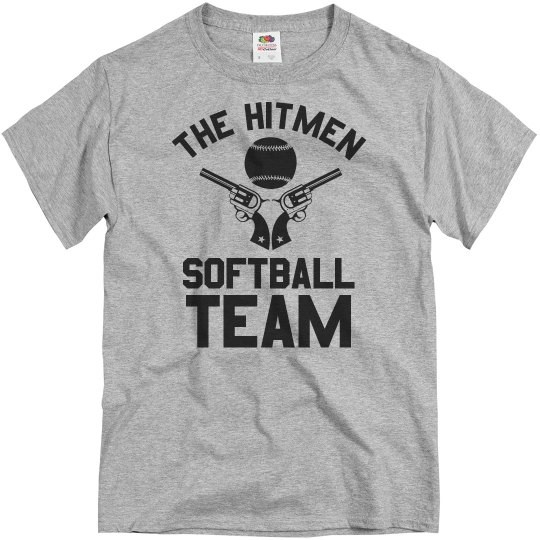 Hitmen Custom Funny Softball Team