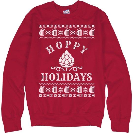 Hoppy Holidays Drinking Sweater