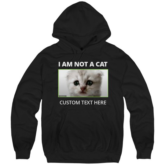 I Am Not A Cat Funny Custom Cat Lawyer Hoodie