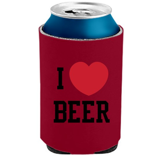 I Heart Beer Can Cooler