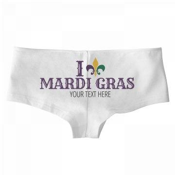 I Heart Mardi Gras Panties Custom