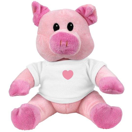 I Heart Plush Piggie Valentines Day