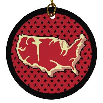 I Love Meat USA Ornament