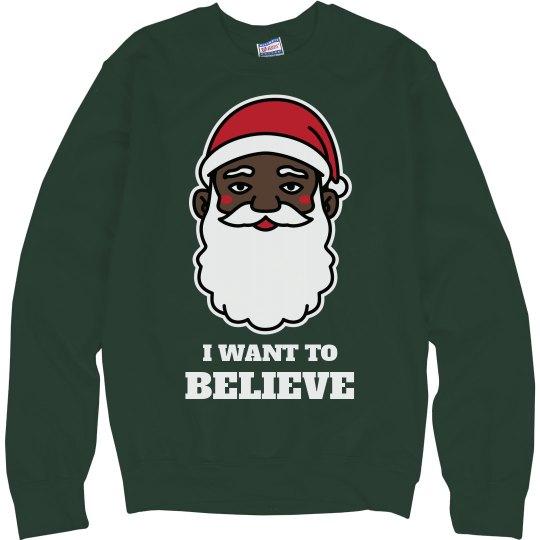 I Want To Black Santa Sweater