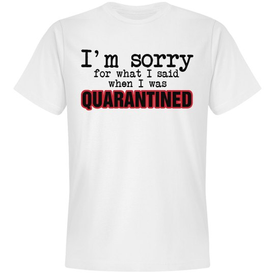 I'm Sorry For What I Said When I Was Quarantined
