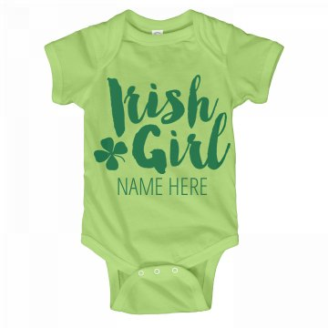 Irish Girl Custom Onesie