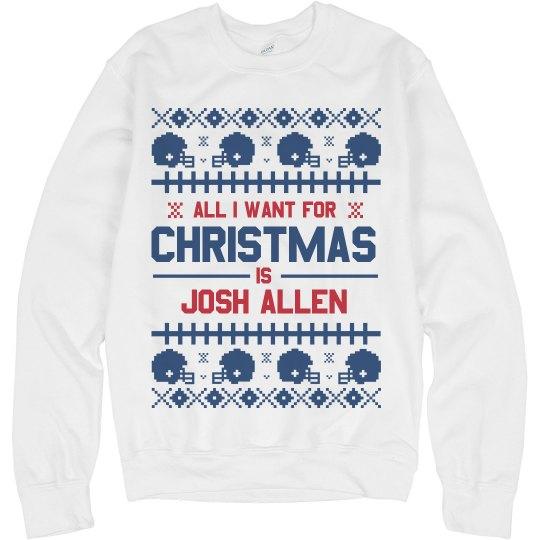 Josh Allen Football Fan Ugly Sweater
