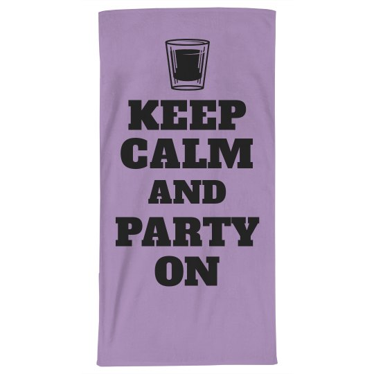 Keep Calm Spring Break Towel
