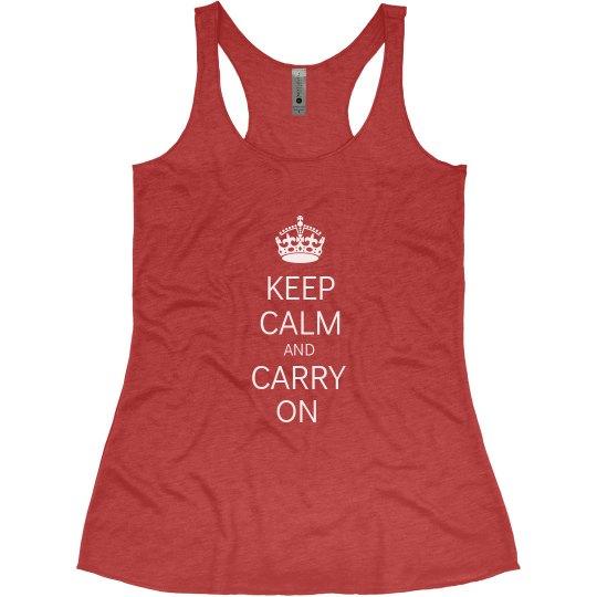 Keep Calm Womens Tank