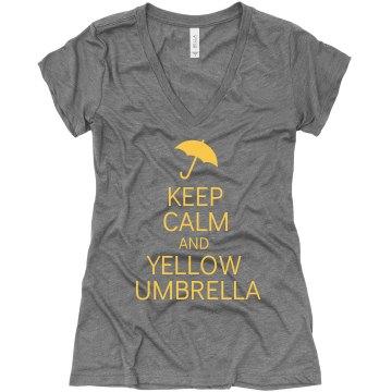 Keep Calm Yellow Umbrella