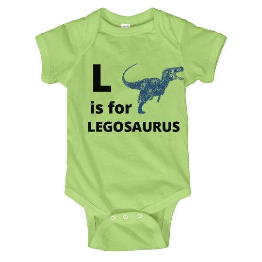 L is for Legosaurus Kids Onesies