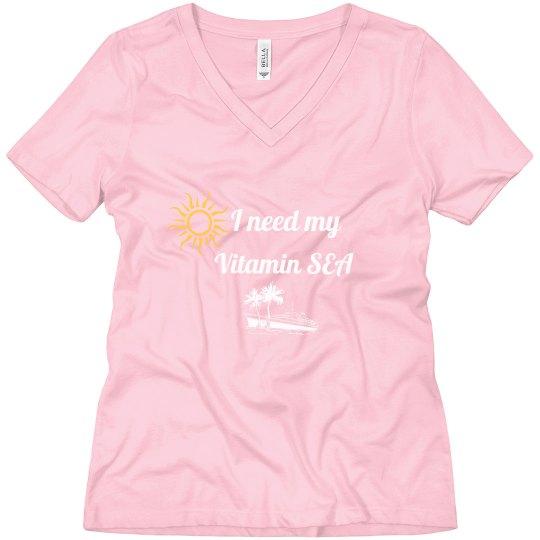 Ladies Pink Vitamin Sea t